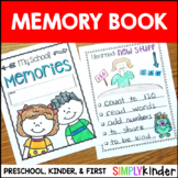 Kindergarten Memory Book - First Grade Memory Book - Preschool Memory Book
