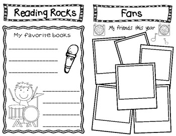 End of Year Memory Book I Rocked ...K, 1st, 2nd, or 3rd grade (Low Prep)