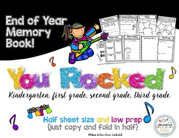 Memory Book I Rocked Second Grade (for 1st or 3rd too)