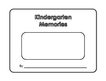 Memory Book - Kindergarten Memories - Yearbook - Scrapbook - End of Year Project