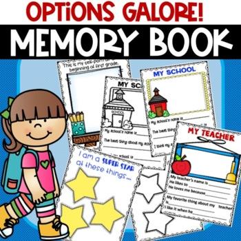 End of Year Memory Book kindergarten preschool first second grade