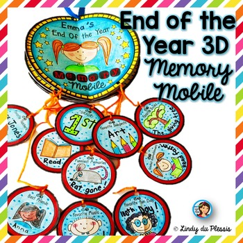 End of the year activity Memory Book Mobile