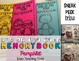 Memory Book Pamphlet {Editable}