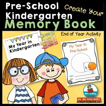 Memory Book | Pre-School & Kindergarten | Writing About the School Year
