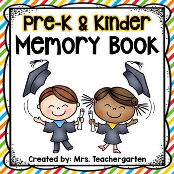 Pre-K and Kindergarten Memory Book