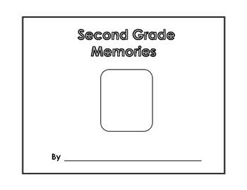 Memory Book - Second Grade Memories - Yearbook - Scrapbook - End of Year Project