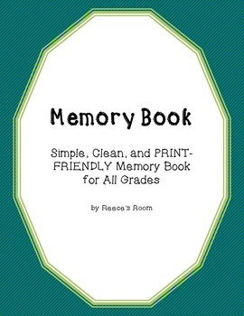 Memory Book - Simple and Print Friendly!