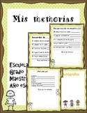 Memory Book/Spanish
