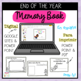 End of the Year Memory Book Spanish Distance Learning & Printable