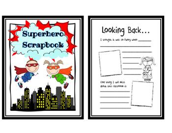 Memory Book (Super Hero Themed)