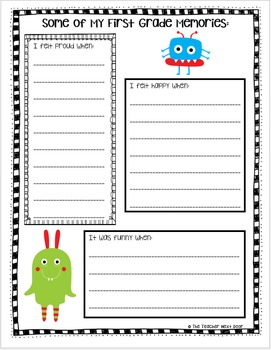 End of the Year Memory Book: Tales of a 1st Grader
