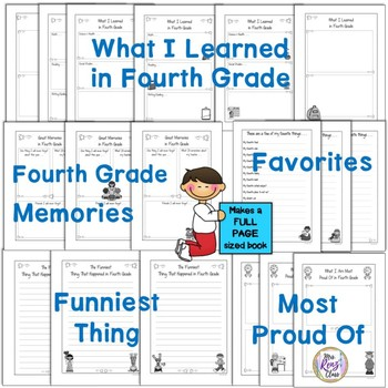 Tales of a Fourth Grade Someone Memory Book Full Page Size No Prep Project