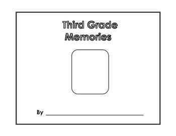 Memory Book - Third Grade Memories - Yearbook - Scrapbook - End of Year Project