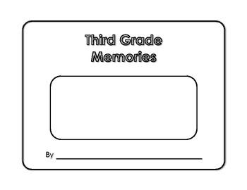 Memory Book - Third Grade Memories - Yearbook - Scrapbook