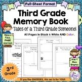 Third Grade Memory Book - Full Page Kids & Stars 3rd Grade