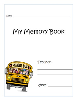 Memory Book: Writing Template for Student Created Memory Book