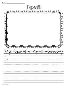 YEARLONG MEMORY BOOK Including Paragraph Writing for Each Month