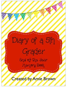 Memory Book for 6th, 5th, 4th, 3rd grades