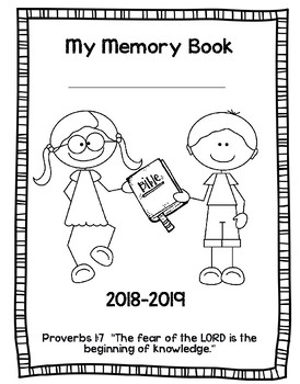 Memory Book for Christian Classrooms