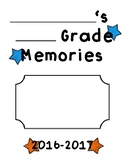 Memory Book for End of School Year Fun