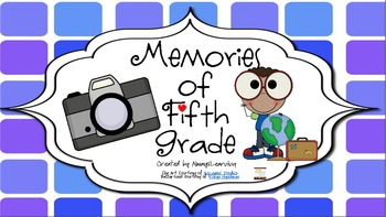 Memory Book for Fifth Grade