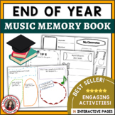 Music End of Year Class Memory Book