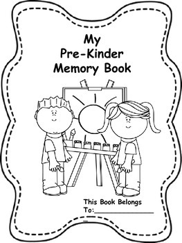 Memory Book for Pre-Kinder