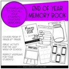 Memory Book for Students {End of Year}