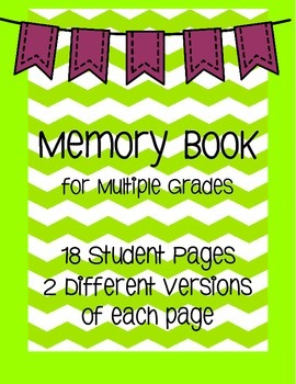 Memory Book {End of the Year} Grades 3 and up