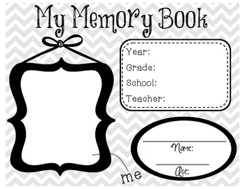Memory Book for the End of the School Year