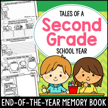 End of the Year Memory Book 2nd Grade
