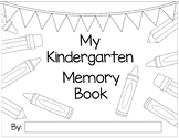Kindergarten/Elementary Memory Book for the end-of-the-year!