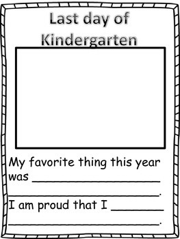 Memory Book With Templates For Grades K 3