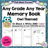 End of the Year Memory Book for Any Grade Any Year - Full