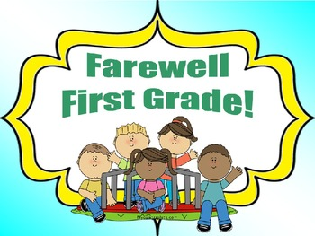 Memory Booklet (Farewell 1st Grade!)