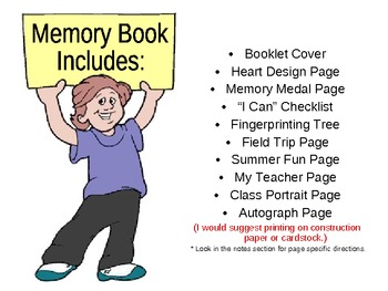 Memory Booklet (I Conquered Kindergarten!)