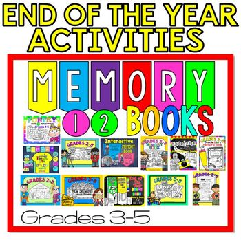 End of the Year Memory Books : BUNDLE of 12 End of Year Memory Books