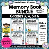 Memory Books for Grades 3, 4, 5 & 6 BUNDLE (Half Sheet Format)