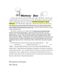 Memory Box Directions
