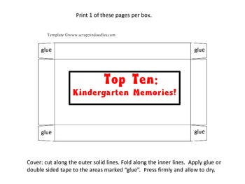 Memory Box: Top Ten of Kindergarten!