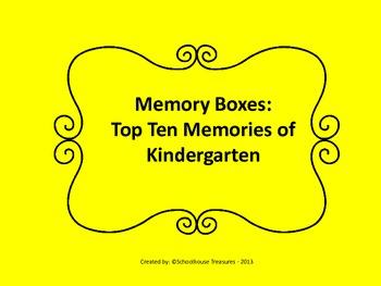 Memory Box: Top Ten of Kindergarten!