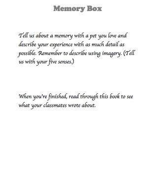 Memory Box - Writing