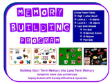 Memory Building Program: Short Term to Long Term Memory Skills