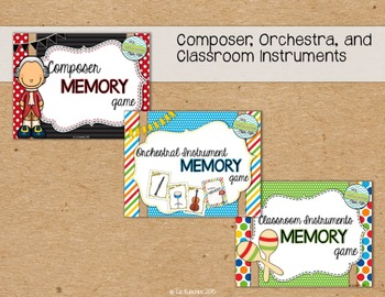 Memory Card Game Bundle: Composers, Orchestra, and Classroom Instruments