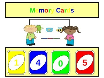Memory Cards-Emphasizing short term memory for those with