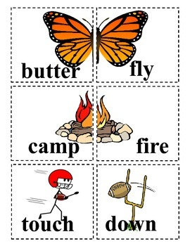 Memory Cards for Compound Words