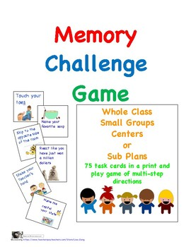 Memory Challenge Game: A Game of Multi-step Direction Practice