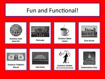 American Symbols - Memory (Concentration)