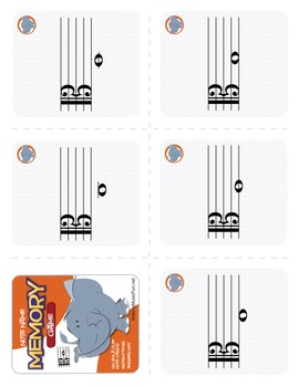 Memory (Concentration) Game | Viola Clef Note Names (Digital Print)