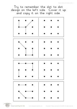 Memory Dot Designs 3x3